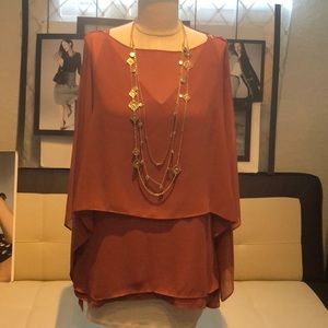 New w/tags WHBM Genius DBL Layer Blouse